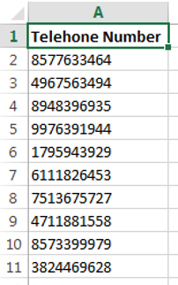 Generate random phone number list in excel for Furniture 7 phone number