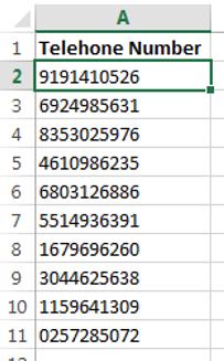 Generate Random Phone Number List In Excel