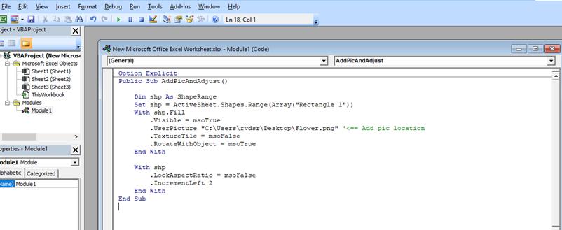 Fit Image Inside A Shape In Excel